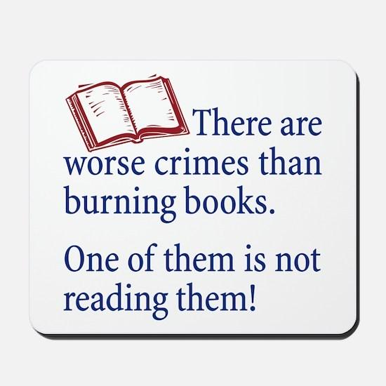Book Burning - Mousepad