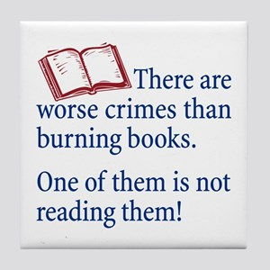 Book Burning - Tile Coaster