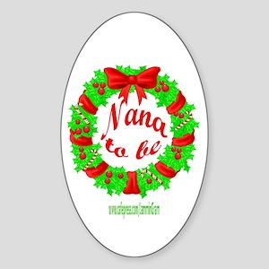 NANA2BE-XMAS Oval Sticker