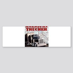 American Trucker Bumper Sticker