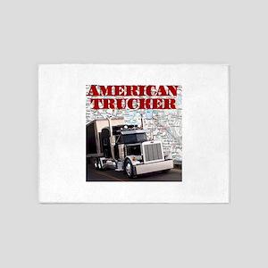 American Trucker 5'x7'Area Rug