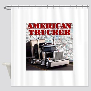 American Trucker Shower Curtain