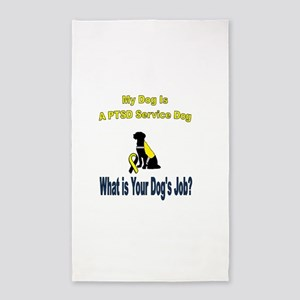 I'm a PTSD service dog Area Rug