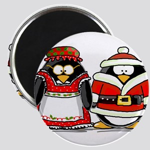 Mr. and Mrs. Claus Penguins Magnet
