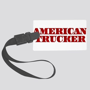 American Trucker Luggage Tag