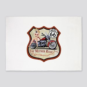 Route 66 The Mother Road 5'x7'Area Rug