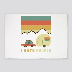 I Hate People Sloth In A car 5'x7'Area Rug