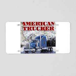 American Trucker Aluminum License Plate