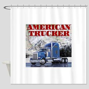 American Trucker Shower Curtain