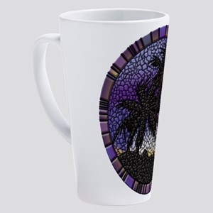Purple Palms 17 oz Latte Mug