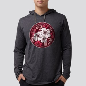 Red Hisbiscus Long Sleeve T-Shirt