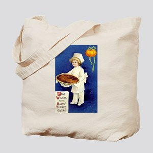 Vintage Thanksgiving Greetings Tote Bag