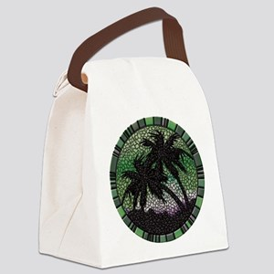 Green Palms Canvas Lunch Bag