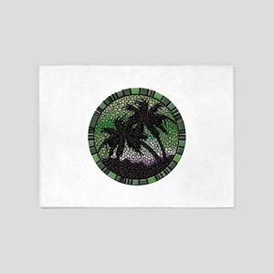 Green Palms 5'x7'Area Rug