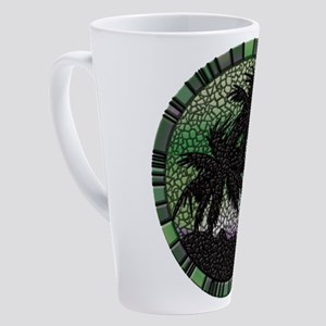 Green Palms 17 oz Latte Mug