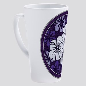 Purple Hibiscus 17 oz Latte Mug