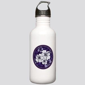 Purple Hibiscus Water Bottle