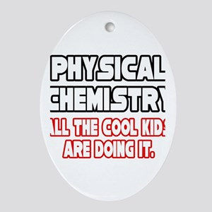 """Phys. Chemistry...Cool Kids"" Oval Ornament"