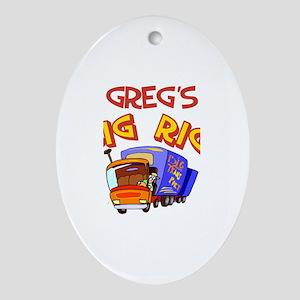 Greg's Big Rig Oval Ornament