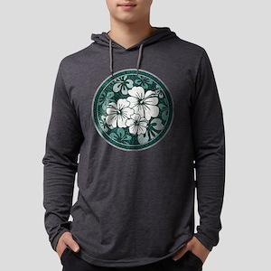 Green Hibiscus Long Sleeve T-Shirt