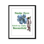 Snake Eyes Framed Panel Print