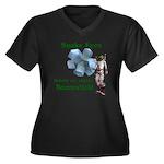 Snake Eyes Women's Plus Size V-Neck Dark T-Shirt