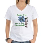 Snake Eyes Women's V-Neck T-Shirt