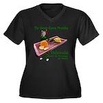 Velveeta Women's Plus Size V-Neck Dark T-Shirt