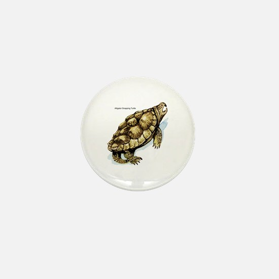 Snapping Turtle Mini Button