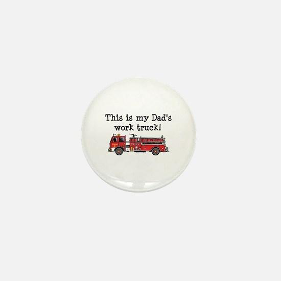 My Dad's Fire Truck Mini Button