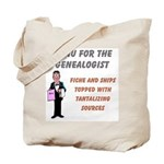 Genealogy Menu Tote Bag