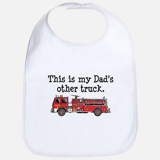 Dads Firetruck Bib
