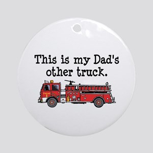 Dads Firetruck Ornament (Round)