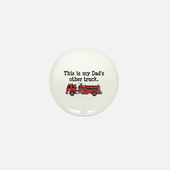 Dads Firetruck Mini Button