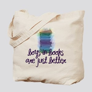 Boys in books are better Tote Bag