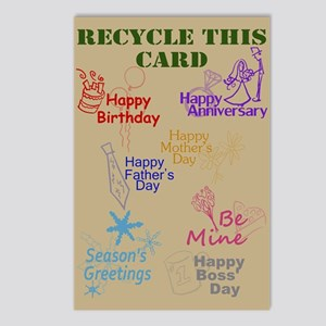 Recycled Card Postcards (Package of 8)