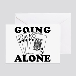 Euchre Going Alone/Loner Greeting Card
