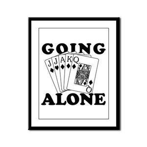 Euchre Going Alone/Loner Framed Panel Print