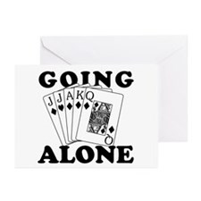 Euchre Going Alone/Loner Greeting Cards (Pk of 10)