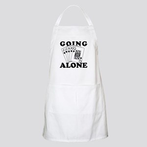 Euchre Going Alone/Loner BBQ Apron