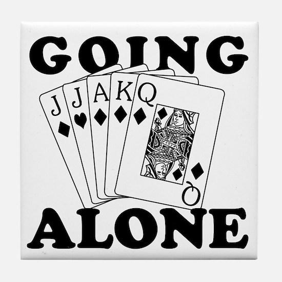Euchre Going Alone/Loner Tile Coaster