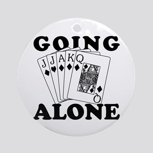 Euchre Going Alone/Loner Ornament (Round)