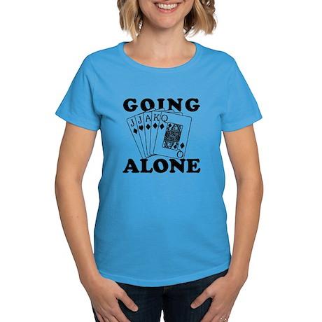 Euchre Going Alone/Loner Women's Dark T-Shirt