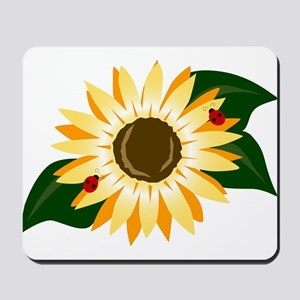 Sunflower & Ladybugs Mousepad