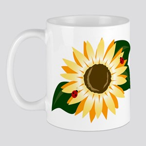 Sunflower & Ladybugs Mug
