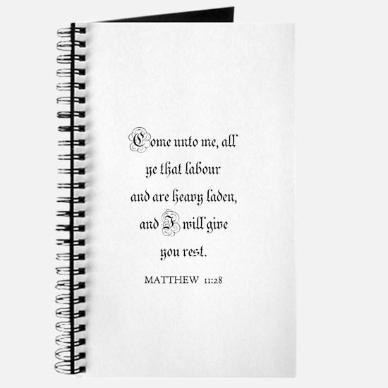 MATTHEW 11:28 Journal