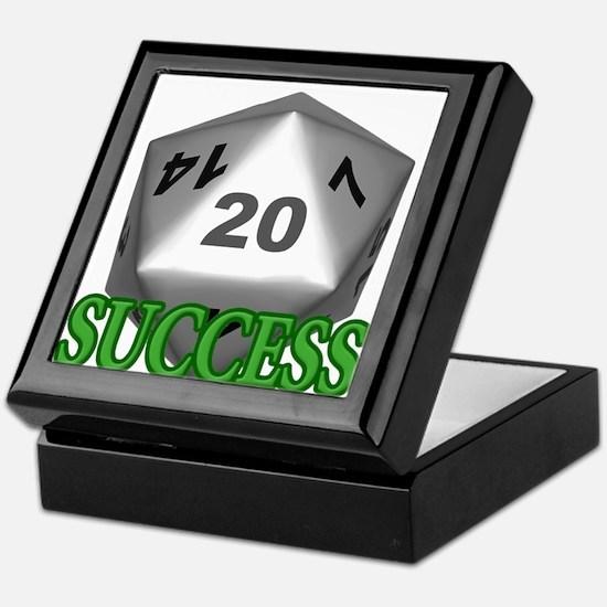 Success D20 Keepsake Box