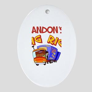 Landon's Big Rig Oval Ornament