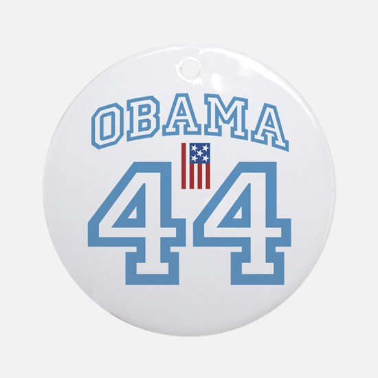 OBAMA 44 with Flag Ornament (Round)