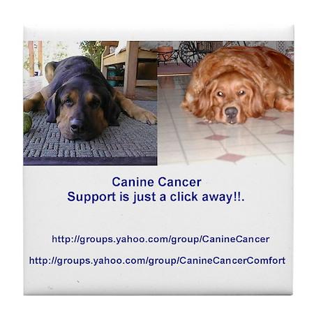 Canine Cancer Tile Coaster